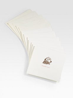 Charles Fradin Home - Letterpressed Thank You Notes/Dog