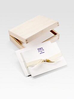 Charles Fradin Home - Letterpressed Note Cards/Purple Cake