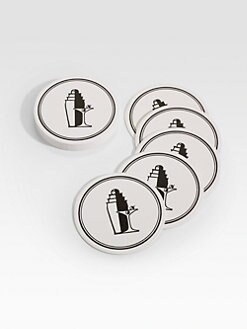 Charles Fradin Home - Letterpressed Martini Coasters, Set of 16