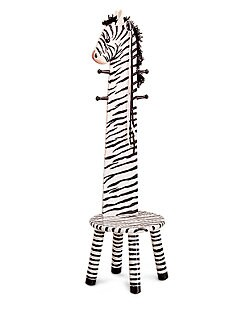 Teamson - Zebra Amimal Stool/Coat Rack