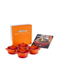 Le Creuset - Cocottes with Cookbook, Set of 4