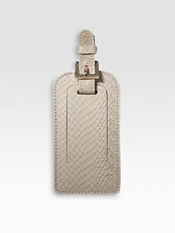 Graphic Image - Python Leather Luggage Tag