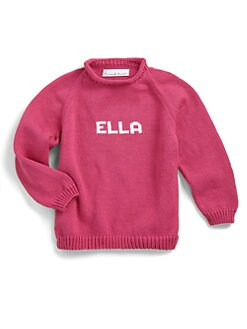 MJK Knits - Personalized Name Sweater/Fuschia