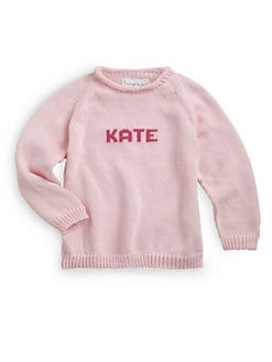MJK Knits - Personalized Name Sweater/Pink
