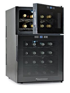 Wine Enthusiast - Silent 24 Bottle Dual-Zone Touchscreen Wine Refrigerator