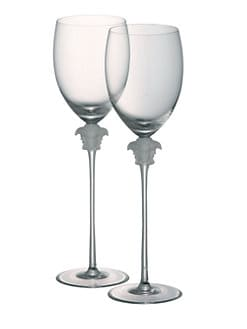 Versace - Medusa Lumiere White Wine Glasses, Set of 2