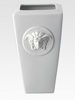 Versace - Medusa Red Vase/White