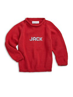 MJK Knits - Personalized Name Sweater/Red