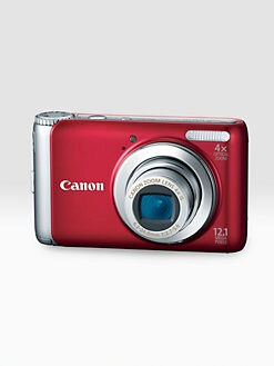 Canon - PowerShot 12.1 MP Digital Camera w/4GB Memory Card