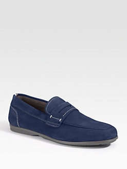 Salvatore Ferragamo - Tour 2 Suede Penny Loafers