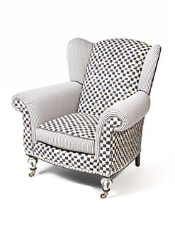 MacKenzie-Childs - Underpinnings Classic Wing Chair