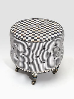 MacKenzie-Childs - Underpinnings Small Drum Ottoman