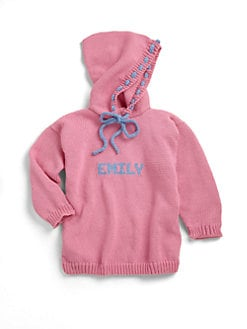 MJK Knits - Personalized Hoodie Sweater/Pink