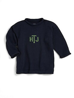 MJK Knits - Monogrammed Pullover/Navy