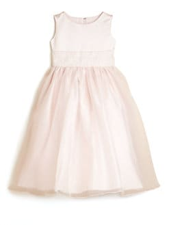Us Angels - Toddler's & Little Girl's Dress with Hand-Beaded Cummerbund