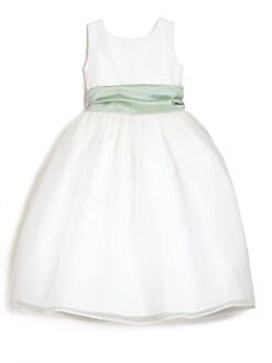 Us Angels - Toddler's & Little Girl's Organza Dress with Sash