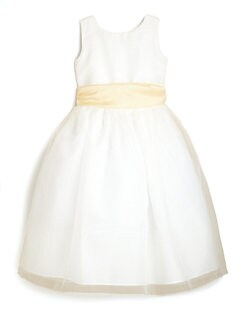 Us Angels - Girl's Organza Dress with Sash