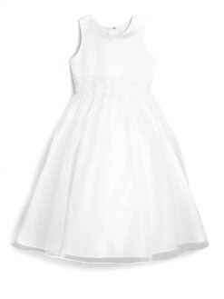 Us Angels - Girl's Dress with Hand-Beaded Cummerbund