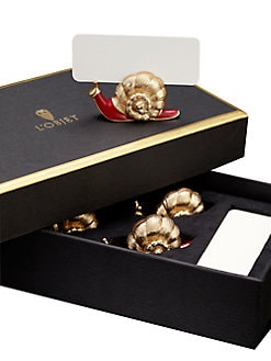 L'Objet - Gold Snail Place Card Holders/Set of 6