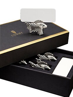 L'Objet - Platinum Fish Place Card Holders/Set of 6