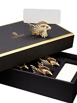 L'Objet - Gold Fish Place Card Holders/Set of 6