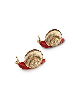 L'Objet - Gold Snail Salt & Pepper Shakers