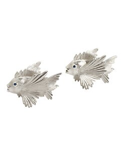 L'Objet - Platinum Fish Salt & Pepper Shakers