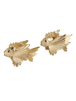 L'Objet - Gold Fish Salt & Pepper Shakers