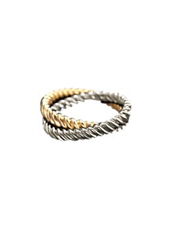 L'Objet - Deco Twist Platinum & Gold Napkin Rings/Set of 4