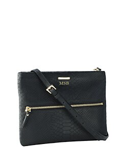 GiGi New York - Python-Embossed Leather Crossbody Bag