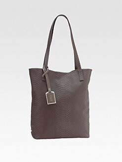 GiGi New York - North/South Snake-Embossed Leather Tote