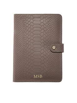 GiGi New York - Personalized Python-Embossed iPad Mini Case