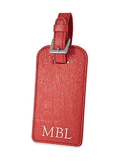 Graphic Image - Leather Luggage Tag