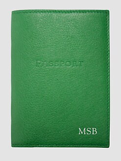 Graphic Image - Personalized Leather Passport Case