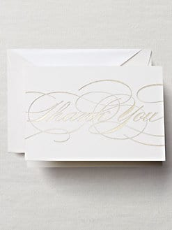 Crane & Co. - Flourish Thank You Note Cards