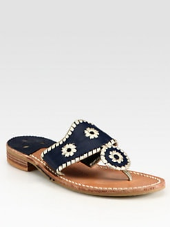 Jack Rogers - Navajo Palm Beach Platinum Sandals