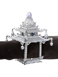 L'Objet - Set of 2 Pagoda Napkin Rings