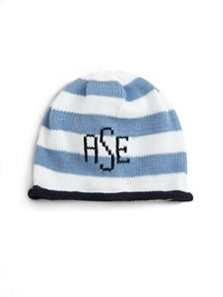 MJK Knits - Personalized Baby Cap/Blue