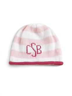 MJK Knits - Personalized Baby Cap/Pink