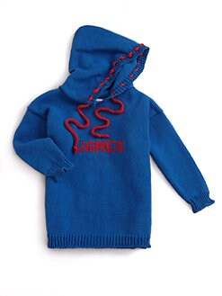 MJK Knits - Personalized Kid's Hoodie/Blue