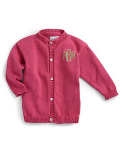 MJK Knits - Personalized Kid's Cardigan/Fuschia