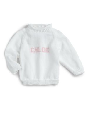 Personalized Baby's Toddler's & Little Girl's Name Sweater