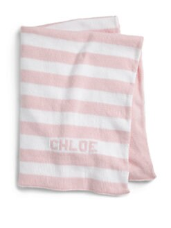 MJK Knits - Personalized Striped Baby Blanket