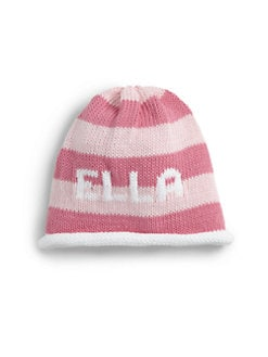 MJK Knits - Personalized Infant's & Little Girl's Striped Beanie