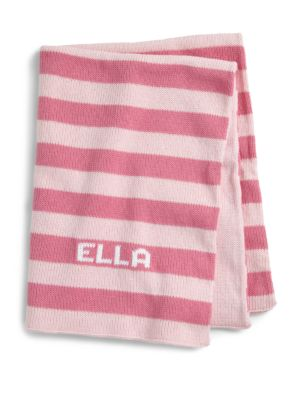 Personalized Striped Baby Blanket