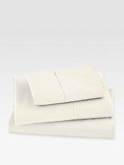 Donna Karan - Essentials Lustre Seam Flat Sheet/Ivory