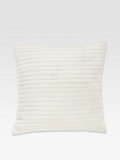 Donna Karan - Modern Classics Tufted Silk Pillow/White Gold