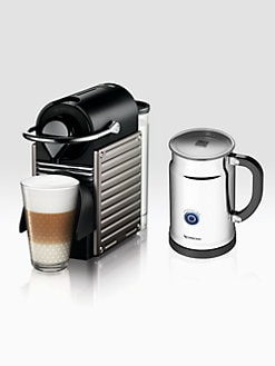 Nespresso - Pixie Espresso Maker with Aeroccino Automatic Milk Frother
