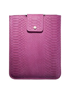 Graphic Image - Universal Python-Embossed Leather iPad Sleeve