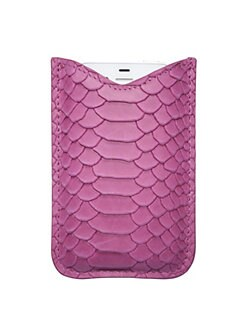 Graphic Image - Python-Embossed Leather iPhone Case